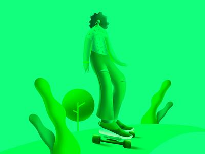Longboard 🛹 vector color longboard skate flat design uidesign flat  design ui flat illustration design illustration