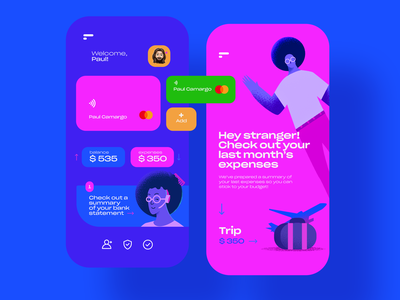 Finance: Mobile App vector app expenses graphic design pay finance bank colors flat design design flat  design uidesign ui flat illustration illustration