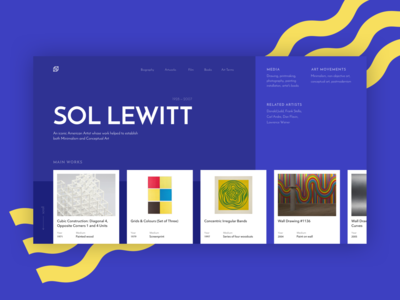 Website about Sol LeWitt