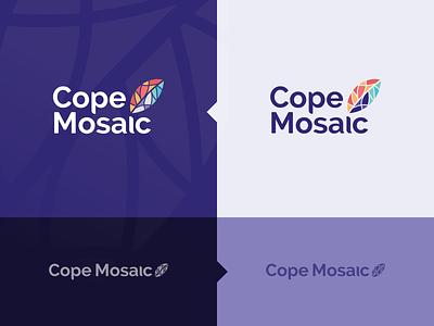 Cope Mosaic Logo design vector typography colorful logo branding