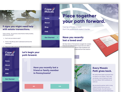 Cope Mosaic Website startup colorful ux ui  ux ui ecommerce homepage website web design