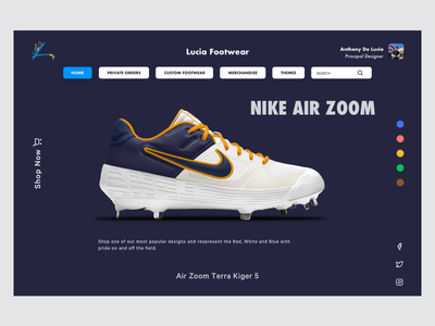 New Product Launch 1 eccomerce sneaker blue white design clean ux sketch