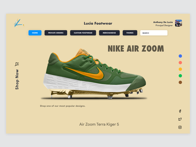 New Product Launch 2 eccomerce sneakers clean ux sketch