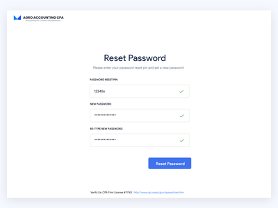 Reset illustration blue white design clean ux web design website web reset password password reset accounting sketch
