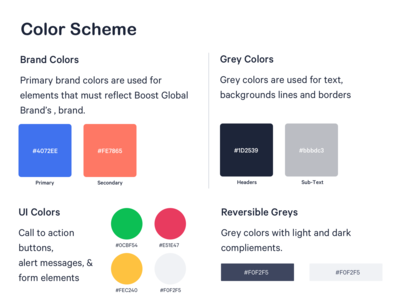 Color Scheme - Boost Global Brands