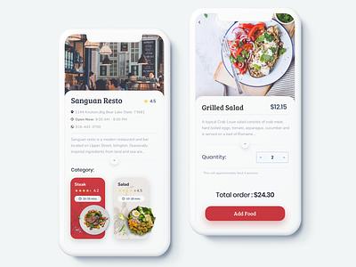 Restaurant App eat menu food online order restaurant logo white mobile app design clean ui ux ios sketch