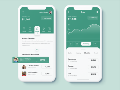 Bank App list price list graphic price numbers bank account green vector illustration mobile design clean ui ux sketch app ios banking app bank bank app