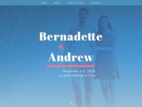 Wedding Website Landing