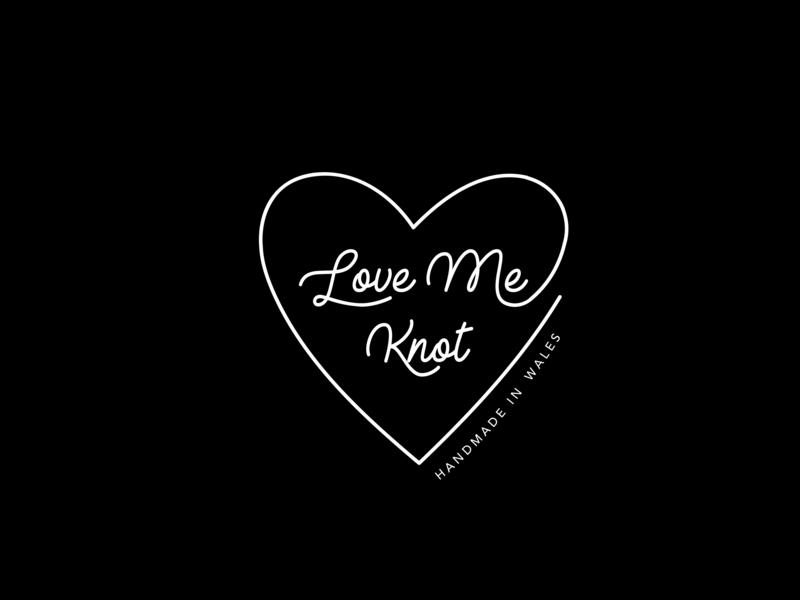 Macrame logo design handmade wales macrame knot neon sign typography vecor heart illustration logo
