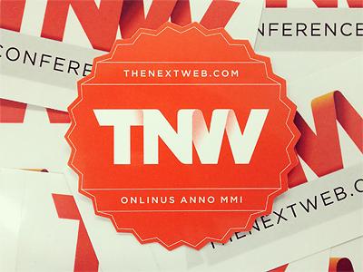The Next Web Conference 2012 tnw next web sticker stickers badge badges orange red print gotham label conference zigzag