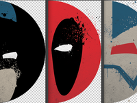 Superhero themed prints