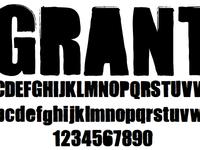 Free Font - Grant