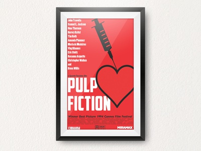 Pulp Fiction movie poster redesign