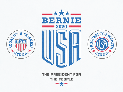 Bernie For President ... democrats usa gift items merchandise bernie sanders sanders bernie 2020 us elections campaign label badge lettering vector graphic vector branding design logo typography typo