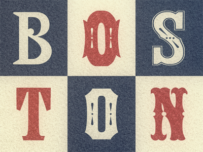 Boston Type Medley ... typography lettering wood type typo type revival tuscan typeface ornamental antique