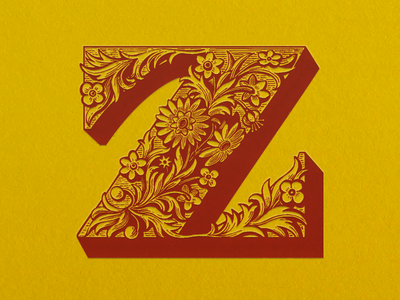 Z-Initial ... vector graphic decorative initial z glyph alphabet typography typo