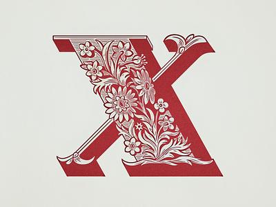 X-Initial ... typo x-initial x-initial alphabet initial vintage retro vector graphic typography