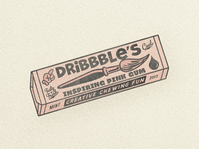 Dribbble Chewing Gum ... typography lettering type typo typeface chewing gum dribbble retro vintage grungy