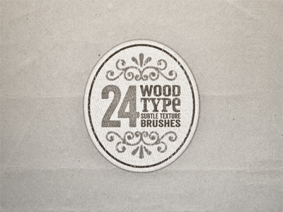 Wood type texture brushes ...