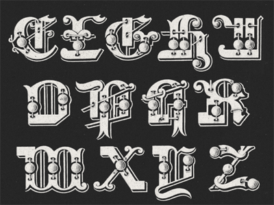 »Galileo« Type Project II ... typography typo type revival tuscan typeface ornamental antique specimen