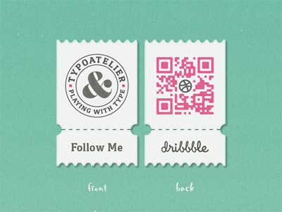 My Dribbble »QR« Coupon ... typography lettering type typo typeface dribbble qr coupon badge