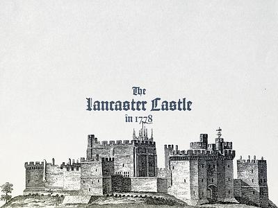 Lancaster Castle ... design illustration retro typo typography castle vectorgraphic vector illustration vectorart