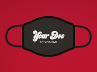 Doc In Charge challange mask covid-19 corona covid logo lettering typography typo