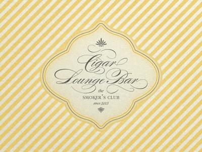 Cigar lounge sign ...
