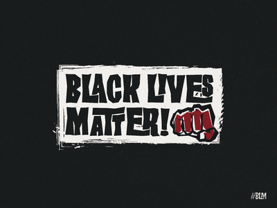 BLM lettering typography typo black lives matter