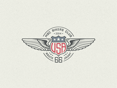 »USA« Winged Badge ... typography lettering type typo vector graphic badge logo usa biker wings