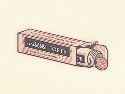 Dribbble Forte ... typography lettering type typo vector graphic dribbble pills
