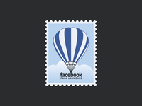 FB Page Launch ... postage stamp icon typography typo facebook vectorgraphic vector illustration illustraion