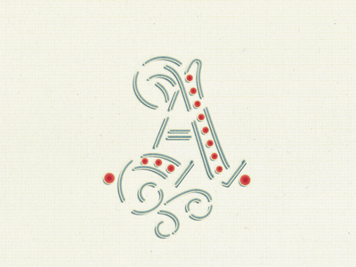 fancy letter a by arno kathollnig dribbble