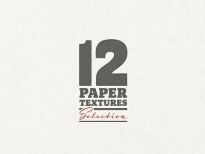 12 Paper Textures ...