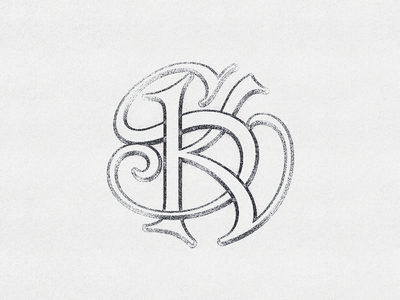 SK  Monogram Interlaced ... monogram lettering