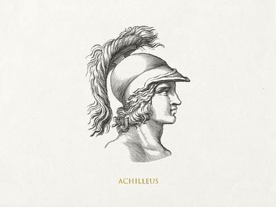 Achilleus ... lineart linework line art vector illustration illustration vector graphic