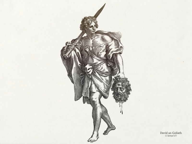 David And Goliath ... goliath david line art lineart illustration vectorart vector illustration