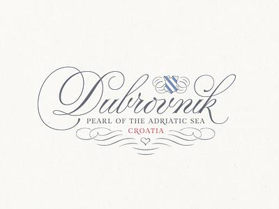 Dubrovnik ... croatia typography lettering type typo fancy lettering dubrovnik