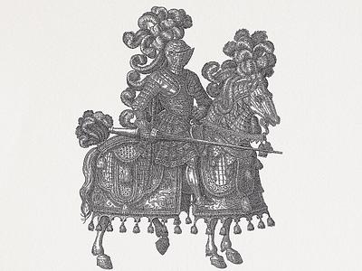 KNIGHT ... lineart horse knight vectorgraphic vector illustration vectorart