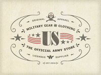 Army Store Label ...