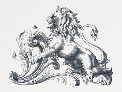 Lion VI ... lineart lion illustration vector graphic vector illustration