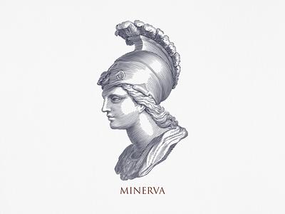 Minerva ... minerva linework lineart vectorart vector illustration