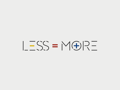 Less Is More ... aphorism quote mies van der rohe minimalist bauhaus vector graphic design typo typography