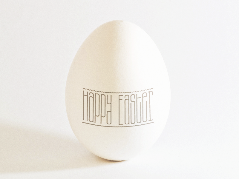 Happy Easter ... typography typo lettering type happy easter egg