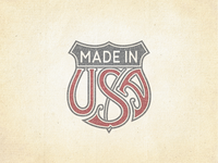 »Made In USA« Trade Emblem ...