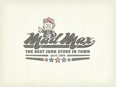 »Mad Max« Junk Store ... typography lettering type typo retro vintage grungy cartoon advert