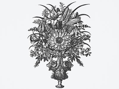 Baroque Floral Bouquet ... bouquet flowers. vase illustration vector graphic vector illustration