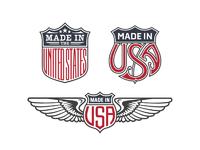 Us trade emblem bundle no1 vector preview