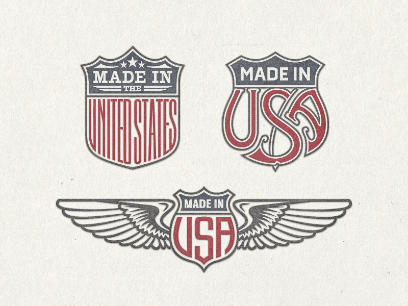 »US Trade Emblems« Vector Bundle No.1 ... typography typo type lettering badge trade emblems freebie download vector graphic