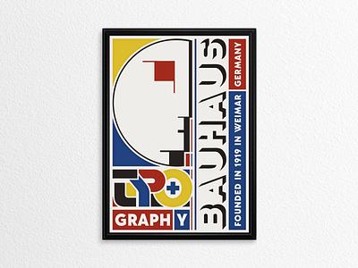BAUHAUS Poster ... poster bauhaus design logo illustration vector graphic lettering typo typography